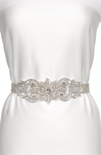 Cara Accessories 'Vintage Crystal' Belt