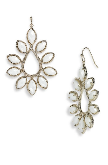 Kendra Scott 'Nyla' Large Teardrop Floral Earrings