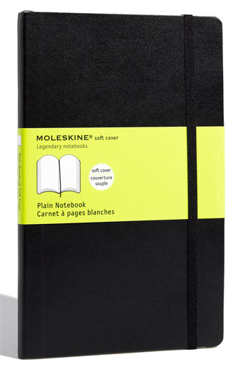 Moleskine 'Plain - Large' Soft Cover Notebook
