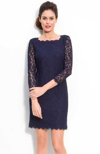 Adrianna Papell Lace Overlay Sheath Dress