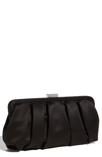 Nina Pleated Satin Clutch
