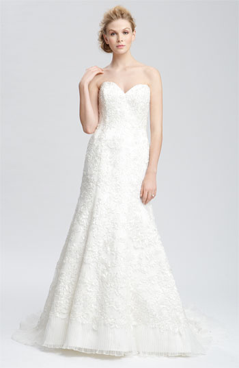 Faviana 'Jessica' Embellished Strapless Organza Gown