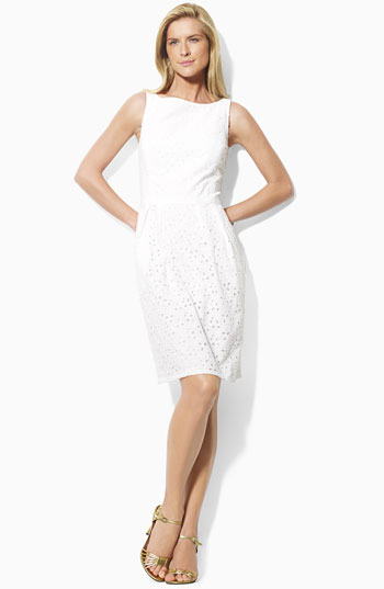 Lauren by Ralph Lauren Eyelet Sheath Dress
