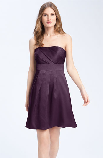 Jenny Yoo Collection Hammered Satin Strapless Dress