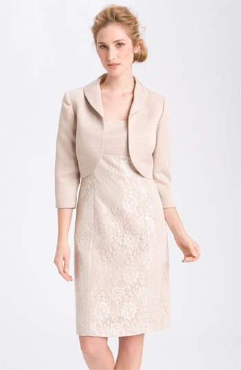 Tahari by Arthur S. Levine Lace Overlay Dress with Bolero