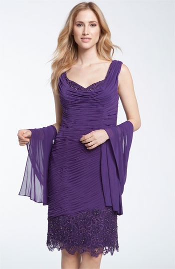 Veni Infantino Lace Stretch Jersey Dress & Stole