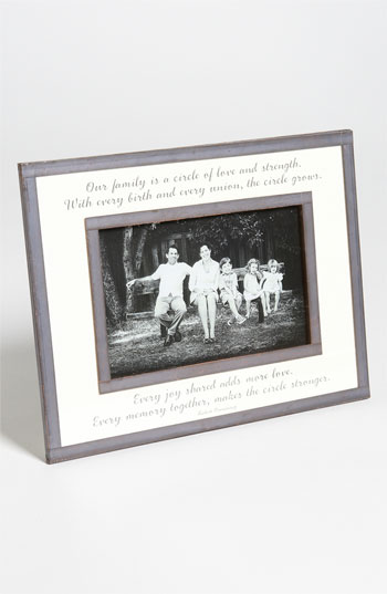 Ben's Garden 'Our Family Is a Circle' 4x6 Picture Frame