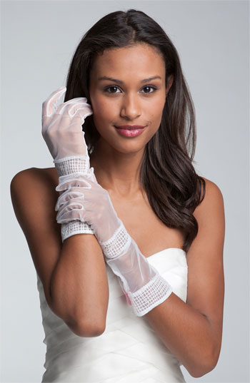 Betsey Johnson Chiffon Gloves