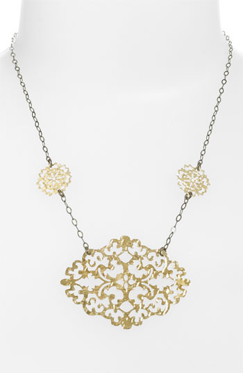 Argento Vivo 'Artisanal Lace' Statement Pendant Necklace Nordstrom Exclusive