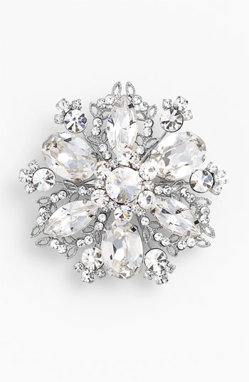 Nina 'Treasure Floral' Crystal Brooch