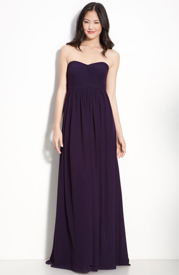 Jenny Yoo Collection Convertible Strapless Chiffon Gown