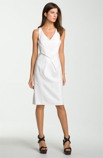 Magaschoni Pique Sheath Dress