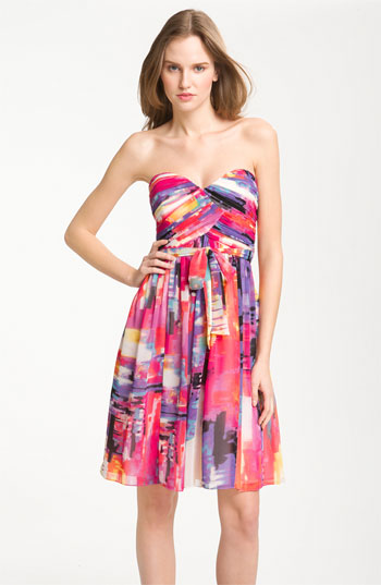Donna Morgan Print Chiffon Dress