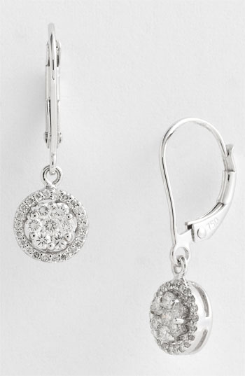 Bony Levy Diamond Flower Drop Earrings Nordstrom Exclusive