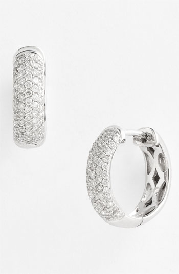 Bony Levy 5-Row Pave Diamond Hoop Earrings Nordstrom Exclusive