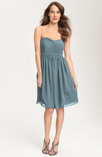Jenny Yoo Collection Convertible Strapless Chiffon Dress