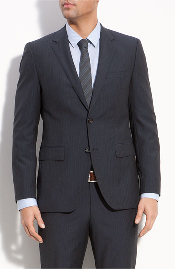 BOSS Black 'Jam/Sharp' Navy Wool Suit