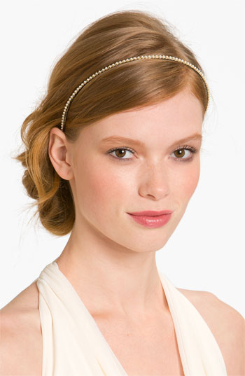 Cara Accessories 'Skinny Pearl' Headband