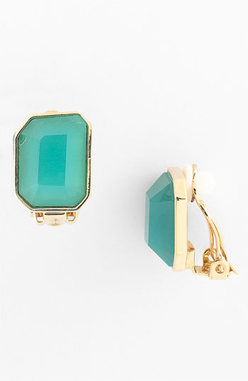 kate spade new york 'mulholland drive' clip earrings