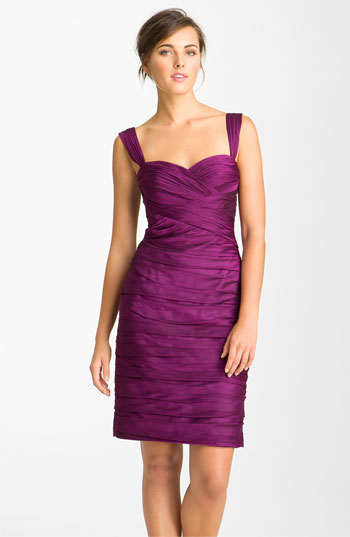 ML Monique Lhuillier Bridesmaids Sweetheart Neckline Pleated Chiffon Dress Nordstrom Exclusive