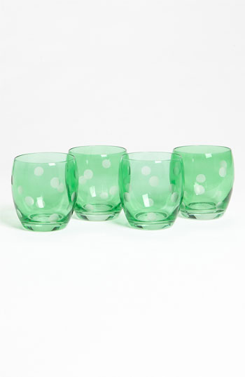 Shiraleah 'Carolina' Polka Dot Glasses Set of 4