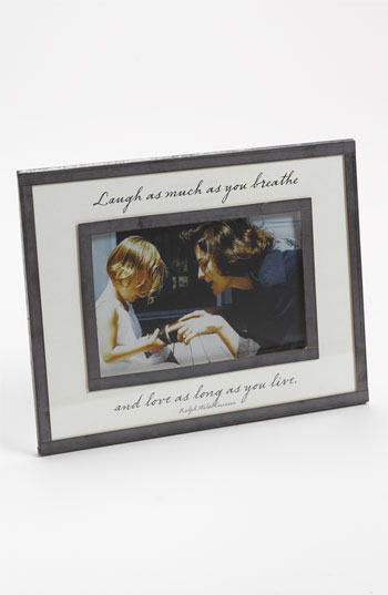 Ben's Garden 'Laugh as Much as You Breathe' 4x6 Picture Frame Nordstrom Exclusive