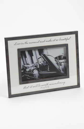 Ben's Garden 'Live in the Moment' 4x6 Picture Frame Nordstrom Exclusive