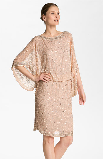 Patra Embellished Kimono Sleeve Silk Caftan Dress