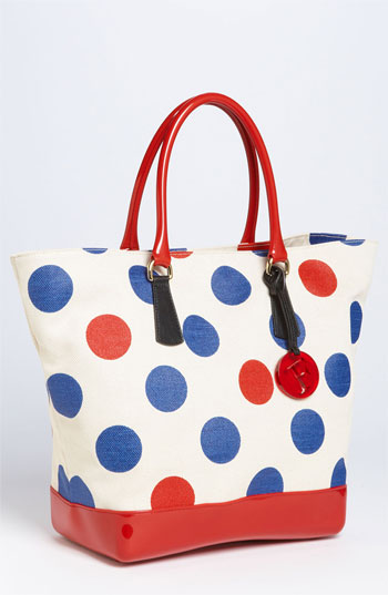 Furla 'Bon Bon - Extra Large' Polka Dot Shopper
