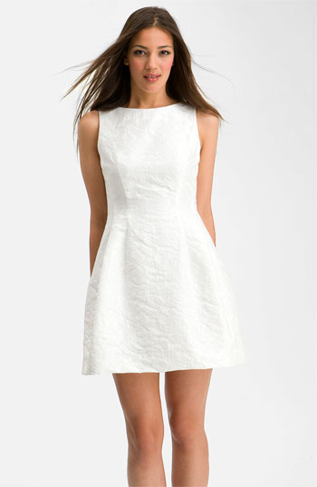 Alexia Admor Bateau Jacquard Fit & Flare Dress
