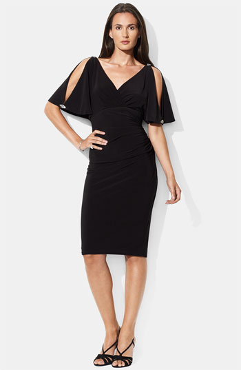Lauren by Ralph Lauren Embellished Split Sleeve Jersey Dress