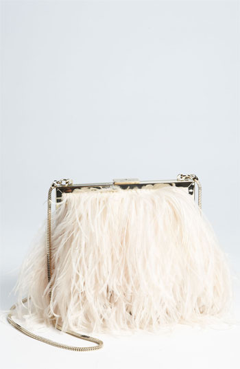 kate spade new york 'belle elliana' feather clutch