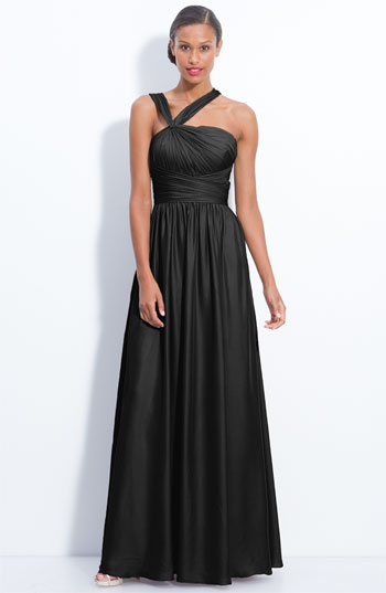 ML Monique Lhuillier Bridesmaids Twist Shoulder Chiffon Gown (Nordstrom Exclusive)