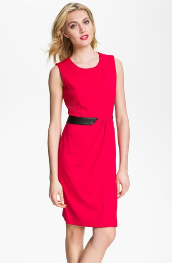 Calvin Klein Inset Waist Ponte Sheath Dress