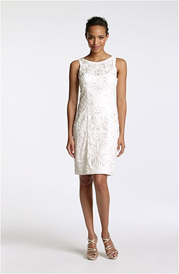 Sue Wong Embroidered Boat Neck Tulle Dress