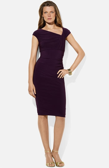 Lauren Ralph Lauren 'Weller' Jersey Sheath Dress (Petite)
