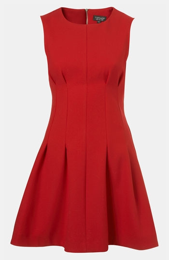 Topshop Seamed Waist Party Dress