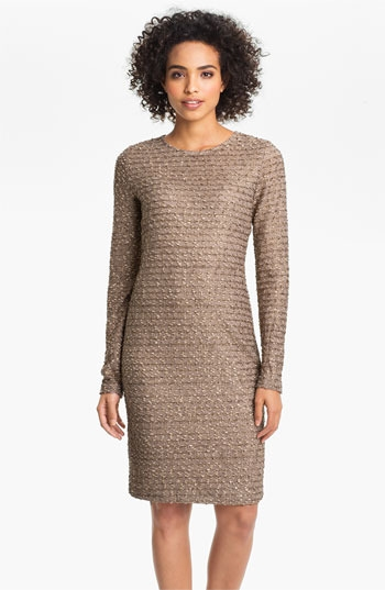 Mark & James by Badgley Mischka 'Foiled Tweed' Midi Sheath Dress