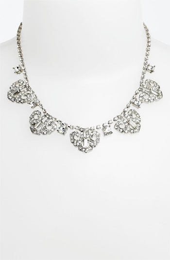 Nina 'Mulberry' Crystal Frontal Necklace