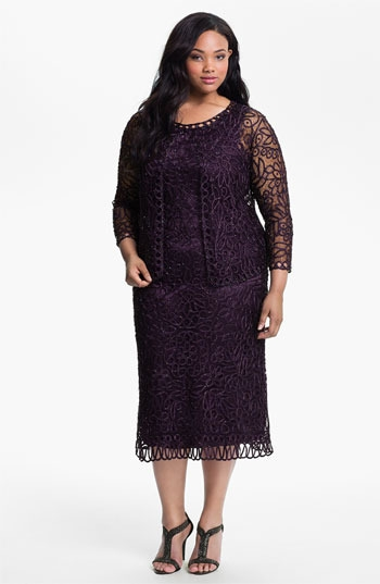 Soulmates Crochet Dress with Jacket (Plus)