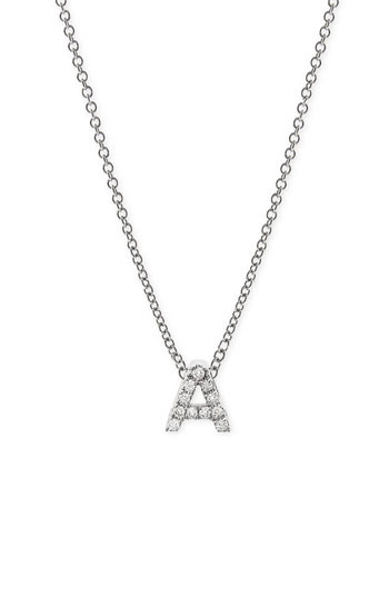 Bony Levy Pave Diamond Initial Pendant Necklace (Nordstrom Exclusive)
