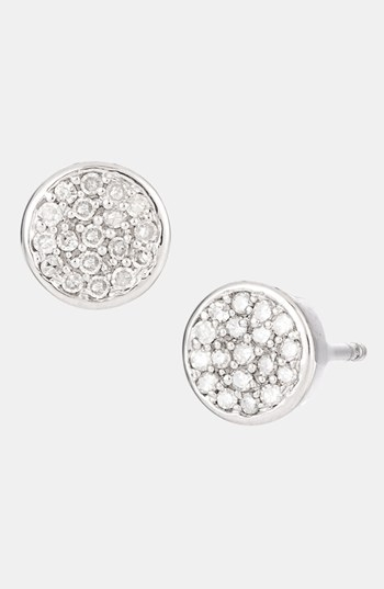 Adina Reyter Pave Diamond Disc Stud Earrings