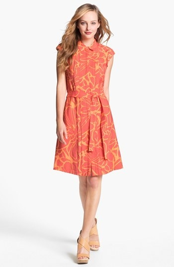 Adrianna Papell Print Shirtdress