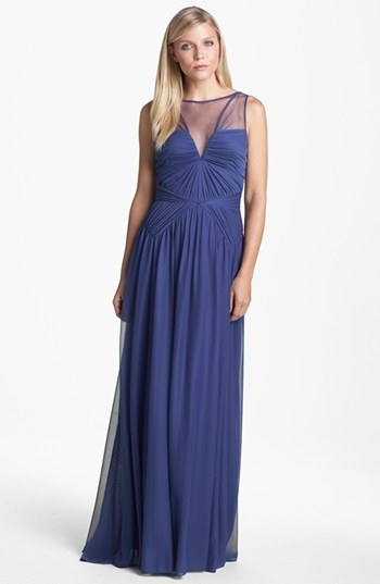 Adrianna Papell Stretch Tulle Gown