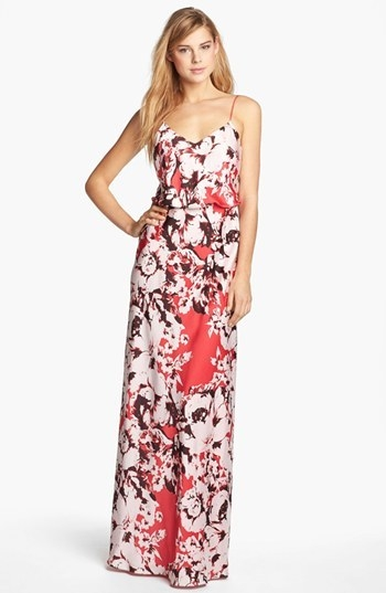 Adrianna Papell 'Vintage Floral' Print Gown