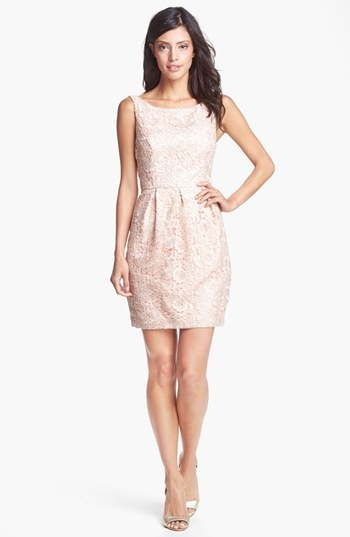 Aidan Mattox Lace Sheath Dress