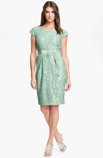 Alex Evenings Cap Sleeve Lace Sheath Dress