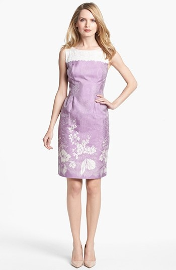 Alex Evenings Print Sleeveless Sheath Dress