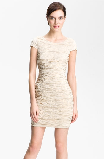 Alexia Admor Ruched Metallic Woven Dress