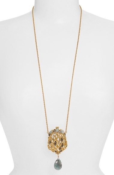 Alexis Bittar 'Elements - Phoenix' Long Pendant Necklace